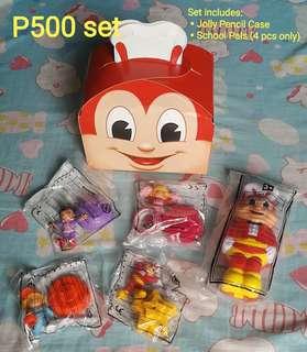 School Pals (4pcs) + Jolly Pencil Case Set