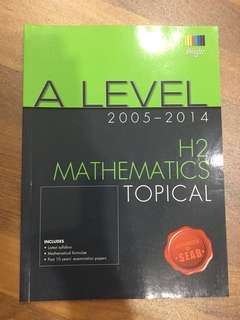 H2 A Level Math Topical TYS (2005-2014)