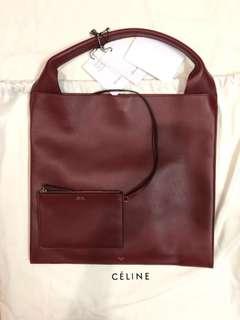 celine 全新手袋shopper shiny smooth calfskin (burgundy)