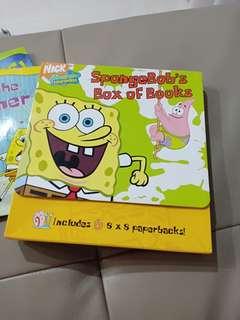SpongeBob's box of 6 books