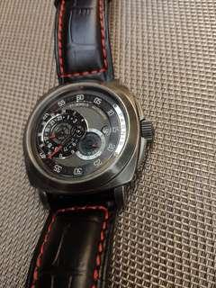 Parnis 機械錶,透底, 44mm黑殼