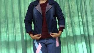 Atasan Cewek (blazer jeans)
