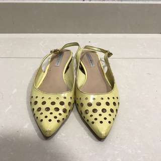 Flat Shoes (Yellow) Charles & Keith