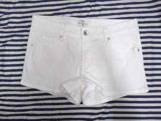 🚚 net 白色牛仔短褲#一百均價