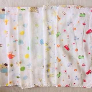 Baby Washcloth/ Baby Handkerchief/ Baby Face Towel (BOYS)