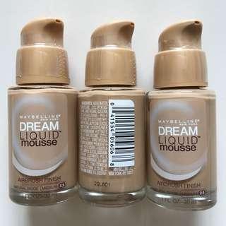Maybelline Dream Liquid Mousse Foundation Natural Beige Medium 2.5