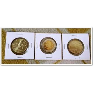 2014 New Philippine BSP 3 Commemorative Coins Uncirculated Condition
