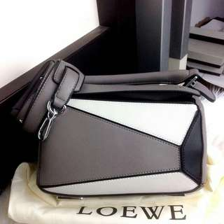 LOEWE Puzzle Leather Colorblock Small