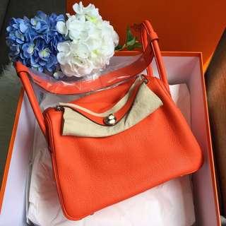 e1b6d405168b closeout hermes evelyne orange poppy flower f009e 03480