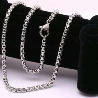 Kalung silver asli titanium