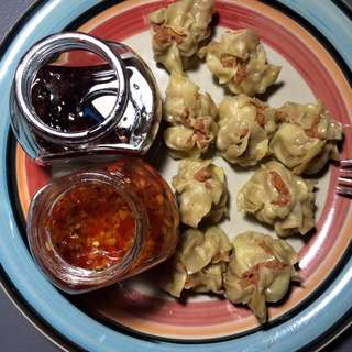 Homemade Pork Siomai w/ Homemade Garlic Chili Oil