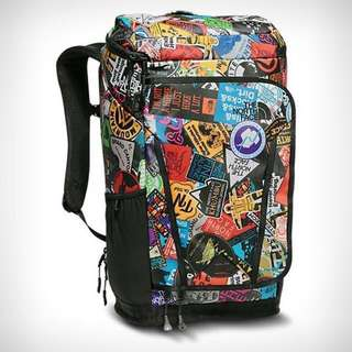 The North Face Kaban Transit Backpack | Haversack | Tnf Red Sticker Bomb print