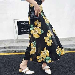 Yellow Flower Long Dress