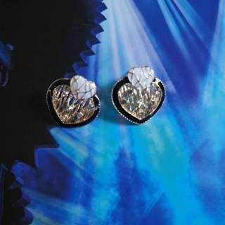 BW Hearts Earrings