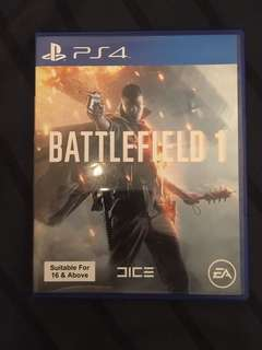 PS4 Game Battlefield 1