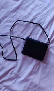 Black Mini Purse Wallet w/ Detachable Strap