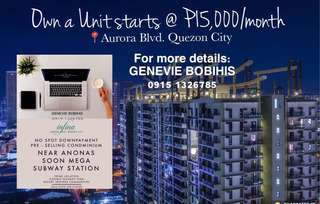 Condo for Sale in Quezon City Near Ateneo, UP Manila & Gateway (NO SPOT DOWNPAYMENT/BIGGER UNIT LAYOUT)