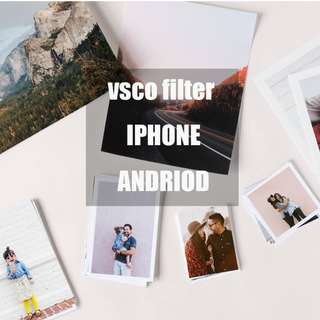 VSCO filters for iphone and andriod
