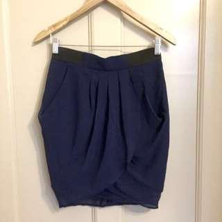 Navy Tulip Skirt