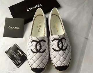 NEW❤🆕Chanel Leather Flats漁夫鞋