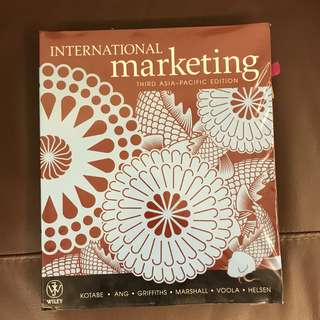 International Marketing, Third Asia-Pacific edition book textbook