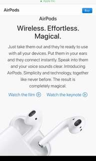 Looking for Apple Airpods yung Rushh po