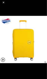 American Tourister Curio Trolley Case (Yellow)
