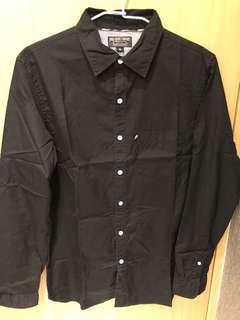 🚚 Polo黑色素面 襯衫 尺寸m
