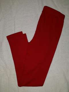 Justees Red Leggings