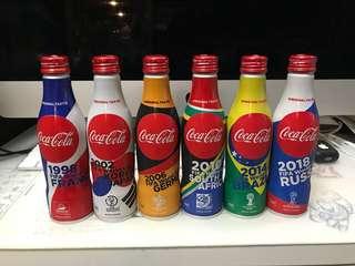 可口可樂 世界盃紀念板 1set 6枝