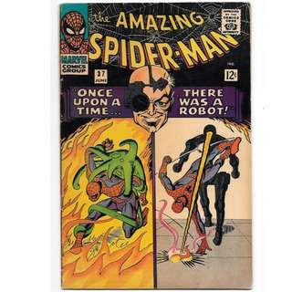 🚚 Amazing Spider-man Vol. 1 #37 - 1st appearance of Norman Osborn (as himself) and Mendel Stromm