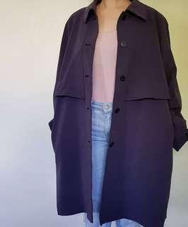 SALE Trench coat purple