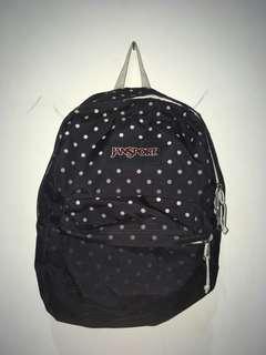 Jansport polcadot backpack