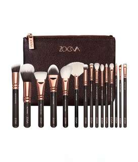 💖 Zoeva 15pcs Rose Gold Brush Set with Pouch 💖