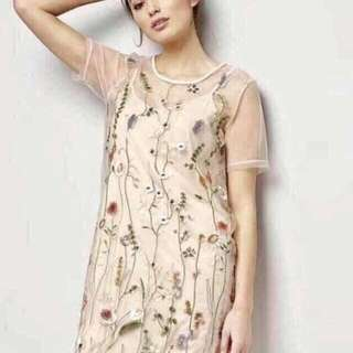 2n1 Embroidered Mesh Dress