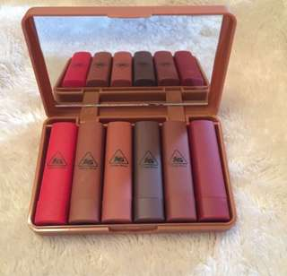 🌸BRANDNEW🌸 Ashley 6 Color Lipsticks with Mirror Case