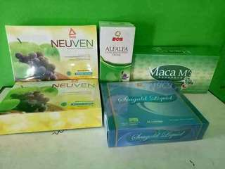NEUVEN +MACA +SEAGOLD +ALFALFA  hemat Rp 150rb