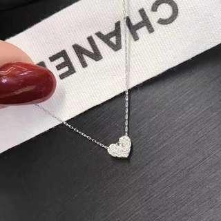 18k金鑽石愛心項鍊