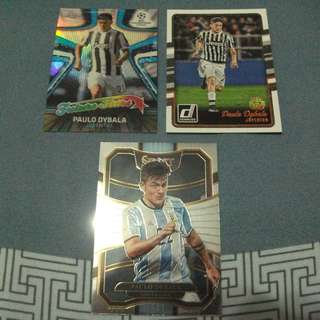 Paulo Dybala Panini /Topps trading cards for trade/sale (Lot of 3 cards)