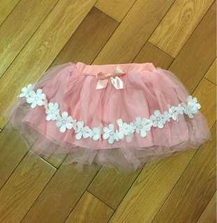 🚚 花邊軟紗粉色紗裙