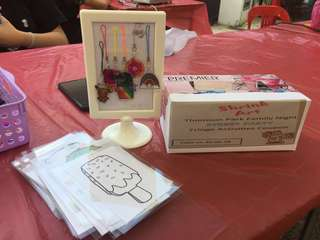 DIY key-tag booth Art & Craft activities