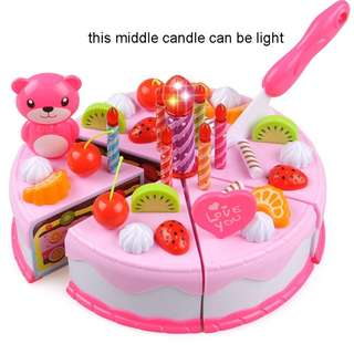 Ready Stock 80pcs Birthday Cake Pretend Play Birthday Party Cake Toy Set