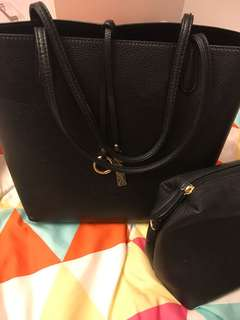 Vincci black tote bag