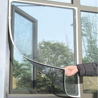 🚚 ANTI-Mosquito Window Mesh Sticky Nylon Tape Insect Net (WHITE)