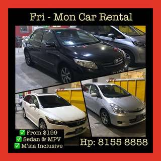 Weekend Car Rental No Surcharge Malaysia Low Deposit