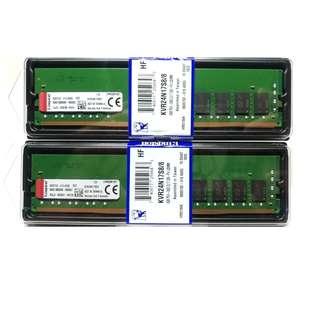 全新 未拆封 金士頓 Kingston DDR4 2400 16G 8Gx2 美光 顆粒 桌上型電腦 原廠終身保固