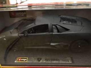 Collectible miniature Lamborghini reventon car
