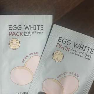 Skinfood Egg White Peel-Off Pack (Nose,Jaw,Forehead Set)