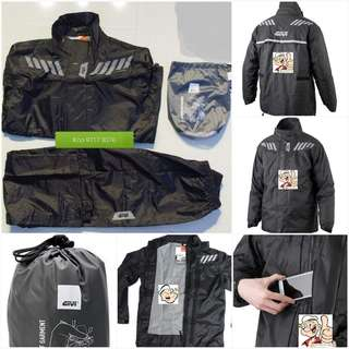0407*** Givi Raincoat RRS04 Black & Red 🤣🤣Thanks To All My Buyer Support 👌👌