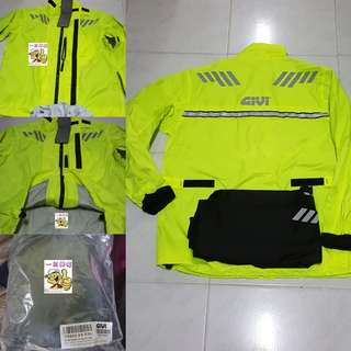0407*** Givi Raincoat CRS02 NEON YELLOW ¤ Lighter Type ¤ 🤣🤣Thanks To All My Buyer Support 👌👌